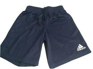 Garcons-Adidas-Bleu-Marine-Basket-Sports-Short-petit-8-ans