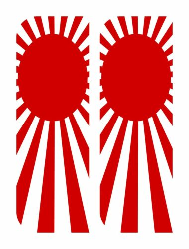 2 x JAPAN RISING SUN vinyl stickers