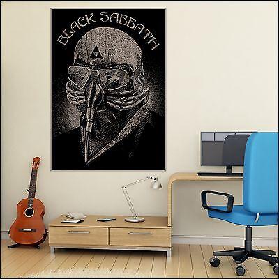 Black Sabbath Autocollant Mural Cadeau Idéal Homme Cave 7 Tailles A4-XXL 1.7 m Mural Poster