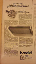 PUBBLICITA' ADVERTISING WERBUNG 1976 CAPPE ASPIRANTI BARALDI (AM20)