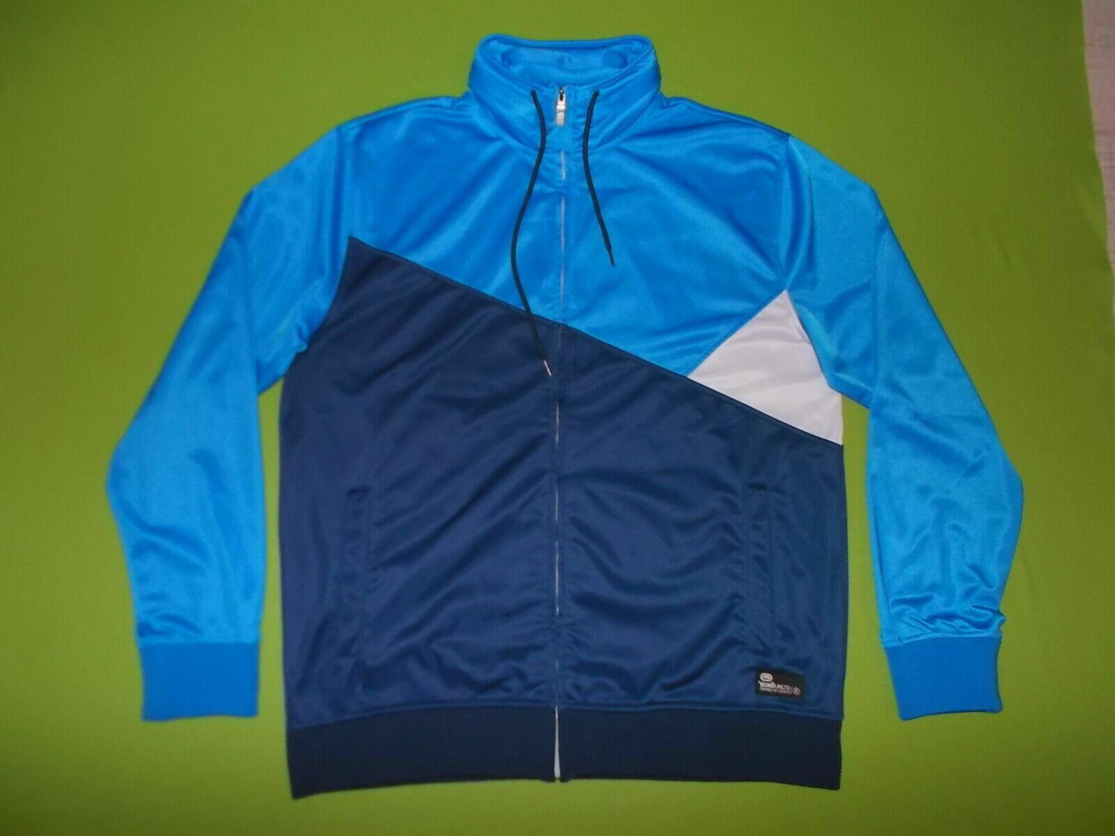 Jacket ECKO UNLTD. (3XL) (XXXL) PERFECT TRACKSUIT TOP HIP-HOP RAP Blue Hoodie