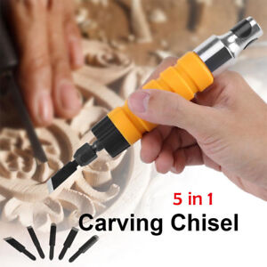 Electric-Wood-Carving-Engraving-Hand-Chisel-Tool-Woodworking-With-Free-5-Chisels