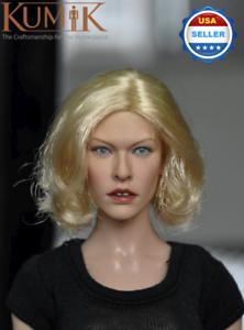 1//6 scale KUMIK 13-89 Female Head Sculpt for 12/'/' female figure body