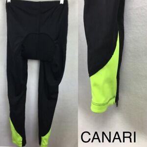 Femme Canari Noir Siège Rembourré Long Vélo Legging Collants Pantalon L-afficher Le Titre D'origine