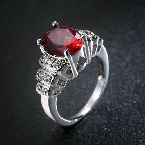 Gorgeous Engagement Jewelry Rose Topaz AAA Zircon Gems Silver Ring Size 6-10