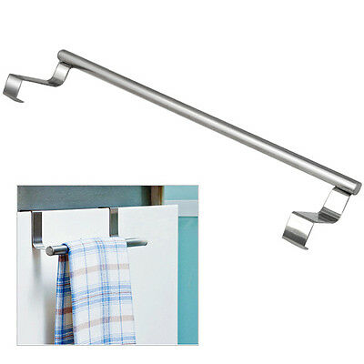 Modern Stainless Steel Over Door Kitchen Tea Towel Rail Drawer Holder Cloth
