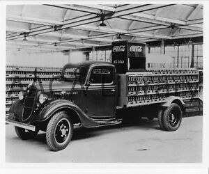 1935-Ford-Bottlers-Rack-Truck-Coca-Cola-Coke-Factory-Photo-Ref-43242