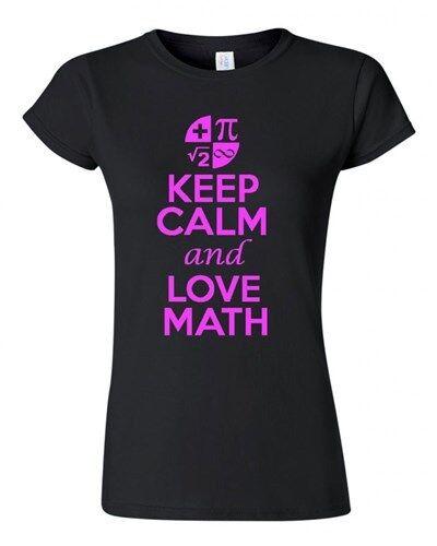 NUOVO JUNIOR Keep Calm and Love matematica Novità amante di matematica T-SHIRT TEE
