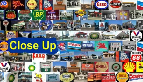 Amazing GULF Gas//Oil old logo sign Montage 1 of only 25
