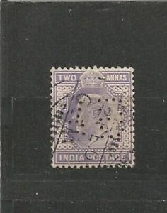 Perfins-perfn-Grande-Bretagne-Angleterre-King-Edward-VII-Old-Stamps-Timbres