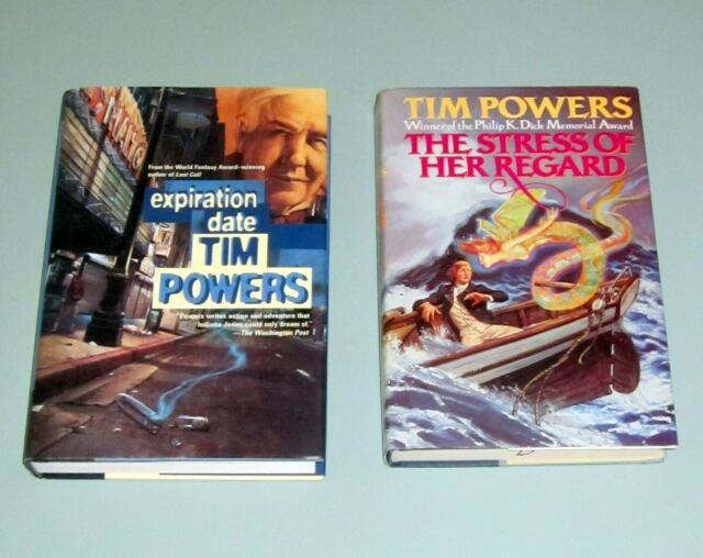 2 Books TIM POWERS Philip K. Dick Award  STRESS OF HER REGARD & EXPIRATION DATE