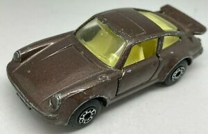 MATCHBOX Lesney Superfast N. 3 Marrone Metallizzato Porsche 911 Turbo
