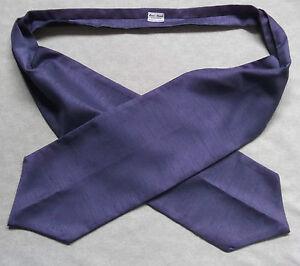 Ascot Foulard Homme Mariage Chouchou Ruché Taille Unique Lavande Violet-afficher Le Titre D'origine