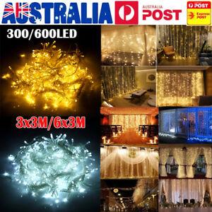 300-600-880-LED-Window-Curtain-Light-String-Fairy-Wedding-Xmas-Party-Garden-Deco