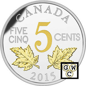 2015-2-Maple-Leaves-Legacy-of-the-Nickel-Prf-5ct-Fine-Silver-Coin-16991-OOAK
