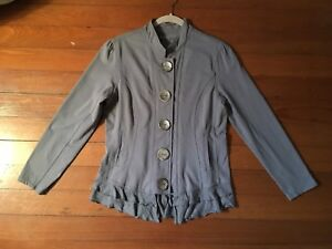 Neon Grey Button Nwot Down Size Jacket L Buddha Large Blazercoat Women's X5SrwSqZ