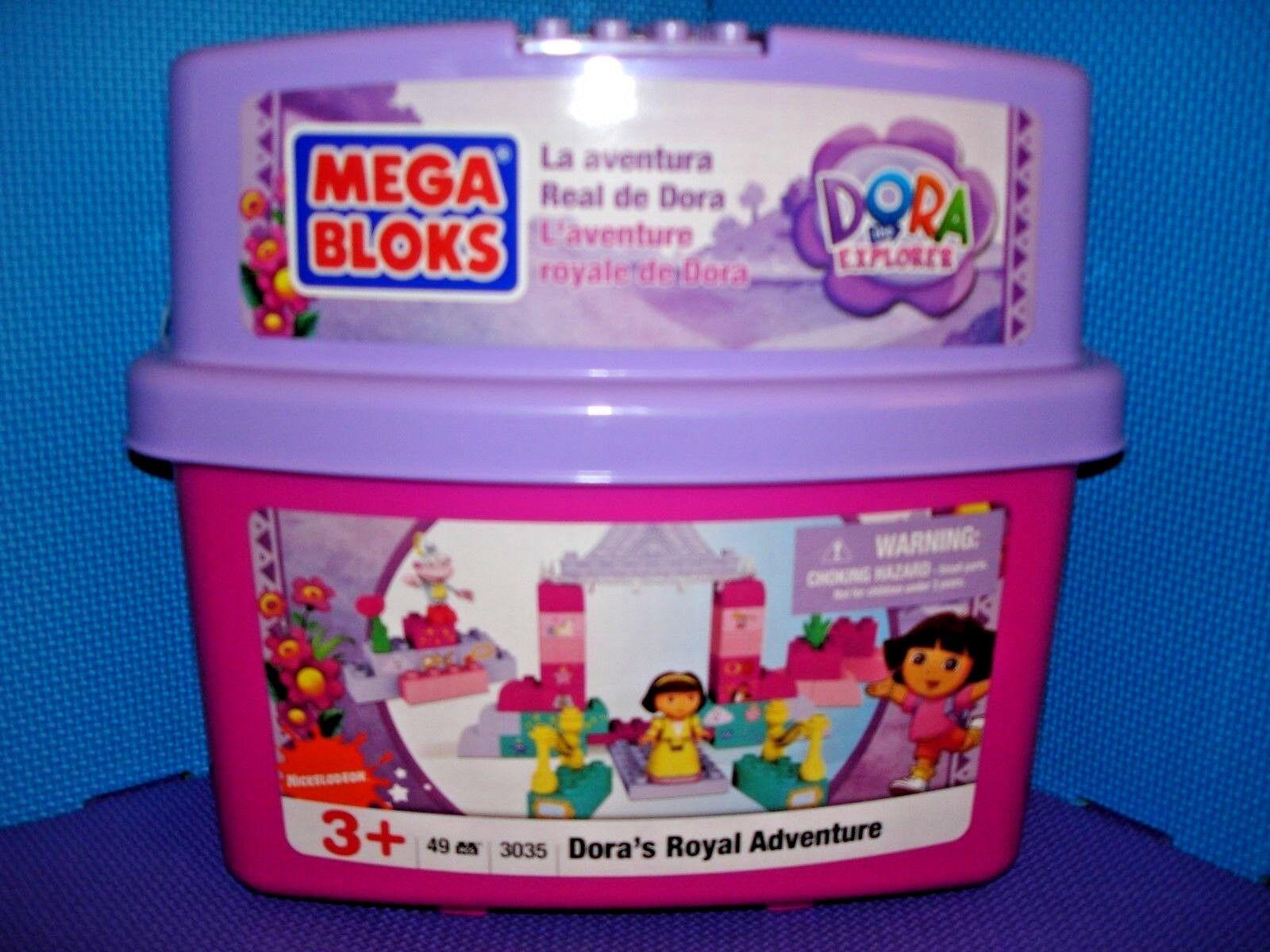 Mega Mega Mega Bloks 3035 Dora's Royal Adventure with Storage Tub Sealed RARE HTF 2009 NEW 23ec1e