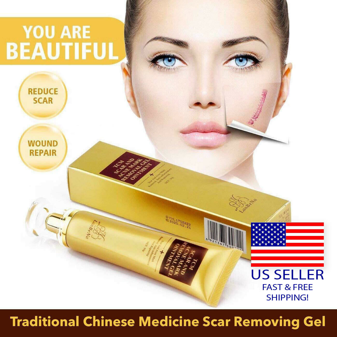 Acne Scar Removal Cream Skin Repair Face For Burns Cuts Operation
