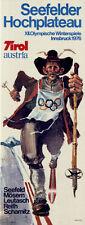 """Olympische Winterspiele 1976 Innsbruck Plakat Motiv """"Langlauf"""" ART Walter Pötsch"""
