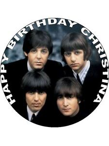 7.5 THE BEATLES EDIBLE ICING BIRTHDAY CAKE TOPPER | eBay