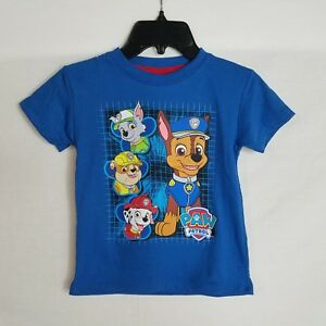 NEW-Toddler-Boys-Size-2T-Paw-Patrol-Short-Sleeve-Blue-Graphic-T-Shirt