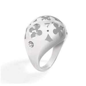 MORELLATO-Anello-donna-a-fascia-doppio-acciaio-con-diamante-naturale-bianco-DD
