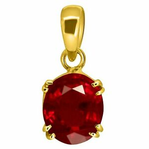 Natural Red Ruby Gemstone 925 Sterling Silver Pendent Natural Red   Ruby Pendent
