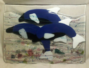 Fused-Glass-Dolphin-Plaque