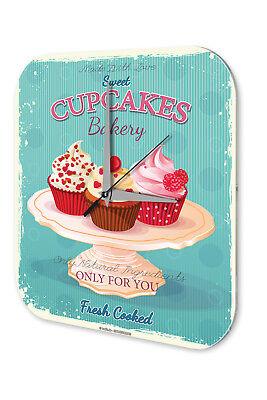 Amabile Orologio Da Parete Nostalgia Fun Decorazione Cupcakes Acrilico Orologio Muro-mostra Il Titolo Originale Vendita Calda Di Prodotti