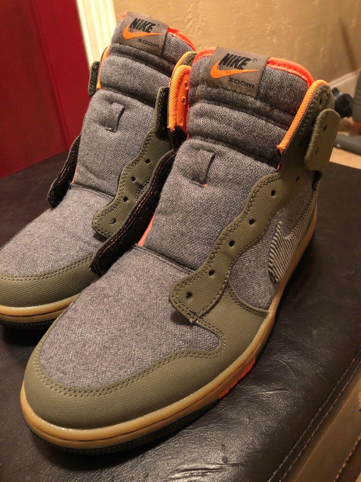 Brand New Men's NIKE SWOOSH Sporting Club shoes High Top Dunk Sz 10