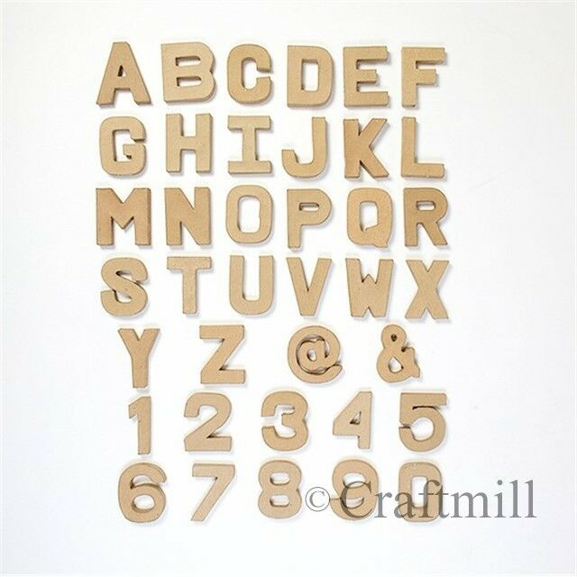 papier paper mache large small letters numbers 205cm 10cm cardboard craft ebay