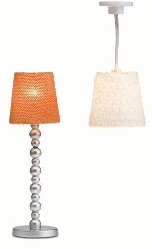 2 lámparas lámpara de techo lámpara de pie casa de muñecas Lundby