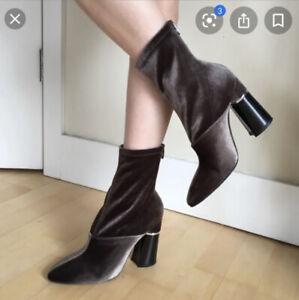 Phillip-Lim-Olive-Velvet-Boots-034-New-York-Sexy-034-New-Last-Drop