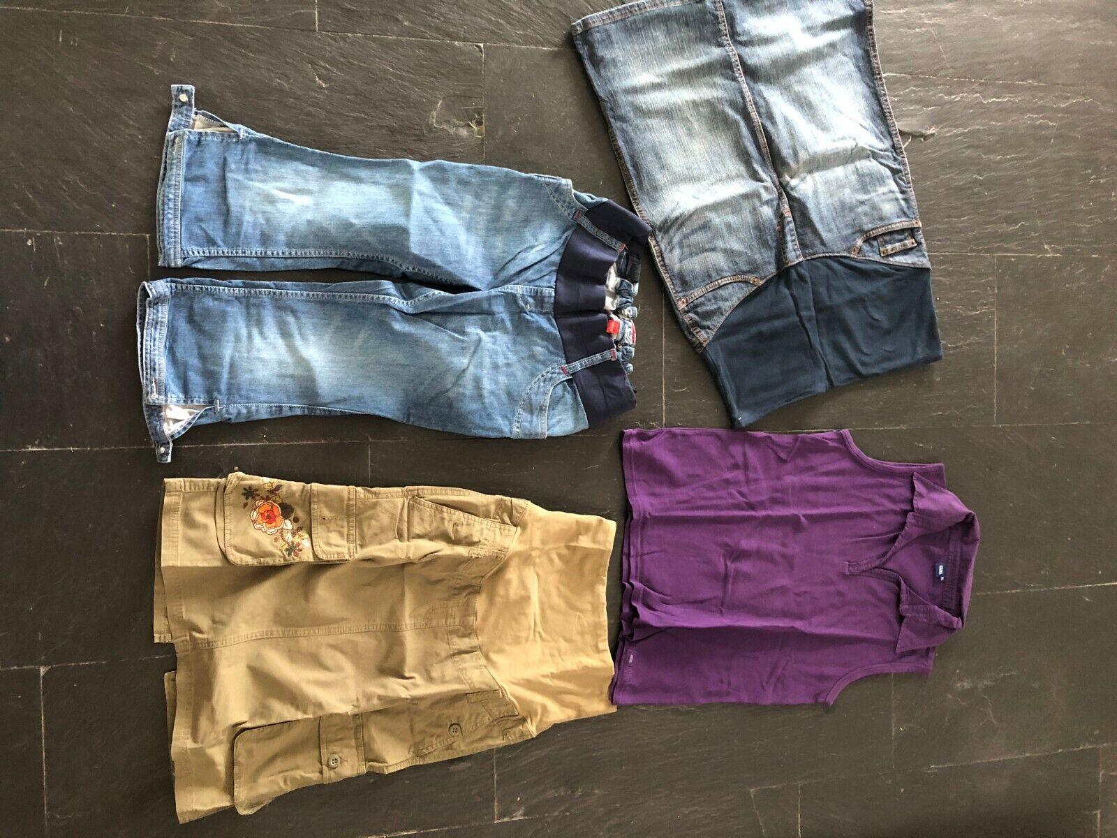 Schwangerschaft Umstandsmode 4 Teile Esprit H&M u.a. Capri Rock Oberteil Shirt 3