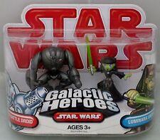 New Hasbro Star Wars Galactic Heroes Super Battle Droid Luminara Unduli Rare Toy
