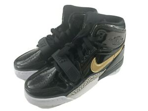 Nike-Air-Jordan-Legacy-312-GS-Black-Metallic-Gold-AT4040-007-Youth-Size-5Y-New