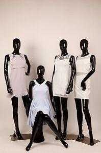 Abstracto-Maniquis-Negro-Brillante-Egghead-Mujer-Mujer-Nuevo-de-Pie