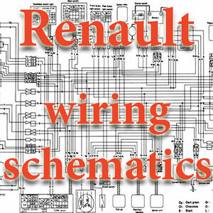 renault wiring diagrams schematics electric ebay rh ebay co uk  renault scenic electrical wiring diagram