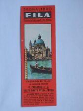 Vecchio SEGNALIBRO FILA Paesaggi d'Italia LAGUNA VENETA Venezia bookmark *