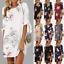 Women-Ladies-Floral-Long-Tops-Blouse-Summer-Beach-Tunic-Boho-Dress-Plus-Size-New thumbnail 1