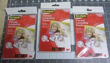 3 Packs Scotch Laminating Pouches 4x6 Free Shipping