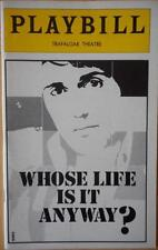 Playbill Whose Life is it Anyway? Tom Conti  Jean Marsh  Philip Bosco  Trafalgar