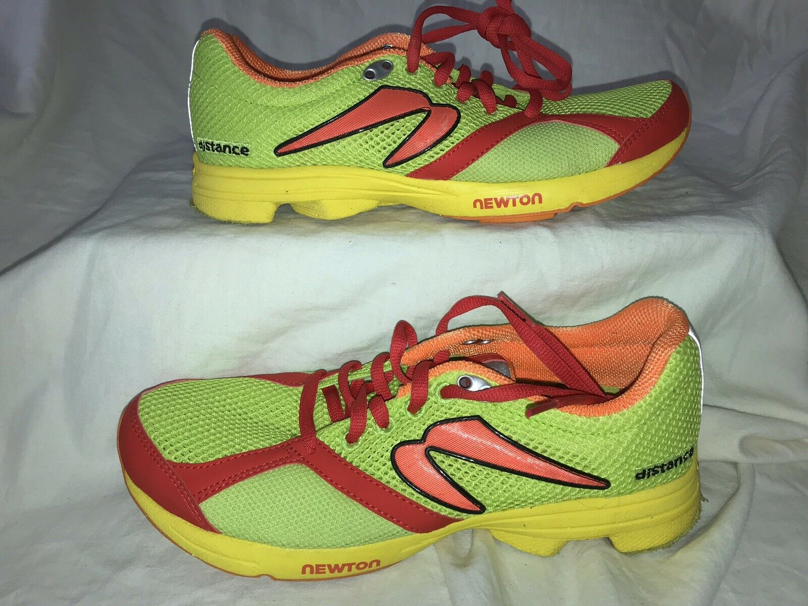 EXC  NEWTON Distance Running Athletic shoes Mesh Neon Lime Green Men's Size 7.5