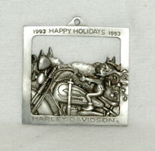 Harley Davidson 1993 Joy Ride Christmas Ornament Pewter