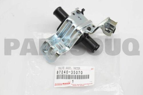 8724035070 Genuine Toyota VALVE ASSY HEATER WATER 87240-35070