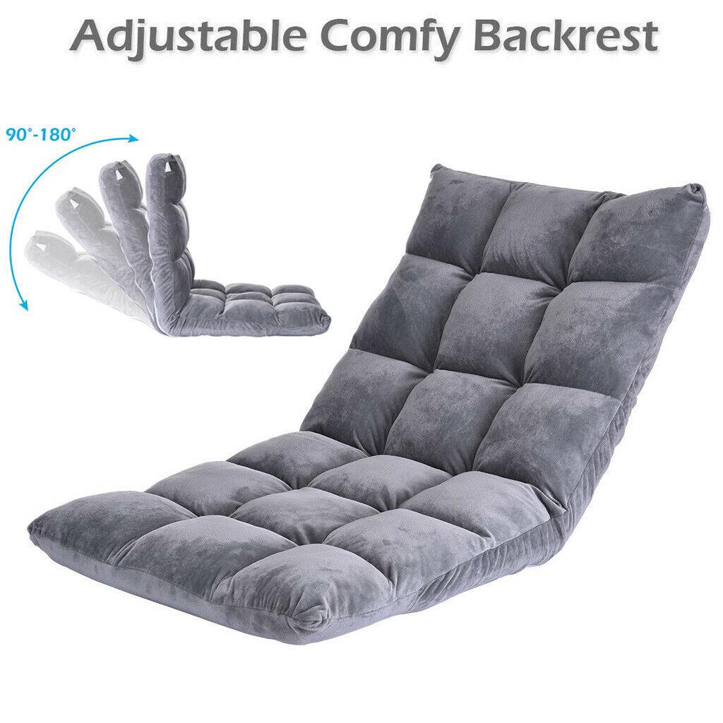Floor Folding Gaming Sofa Chair Lounger Adjustable Sleeper B