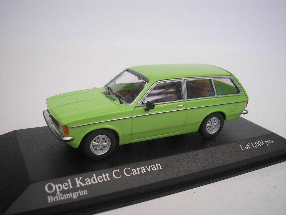 OPEL KADETT C CARAVAN 1978 BRILLANT green 1 43 MINICHAMPS N
