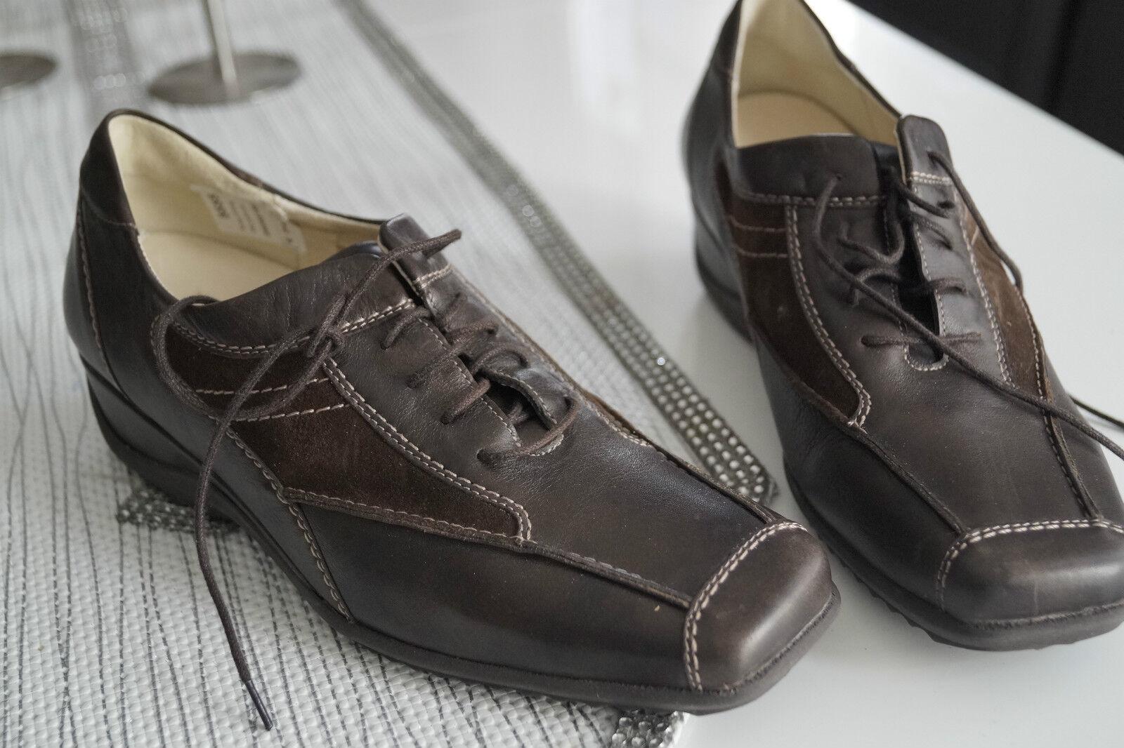 Rôdeur Femmes Comfort Chaussures Chaussure lacée cuir dépôt marron taille 6 H 39,5 Nouveau