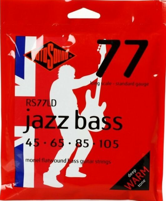 Rotosound RS77LD 'Jazz Bass' Flatwound 4-String Bass strings 45-105