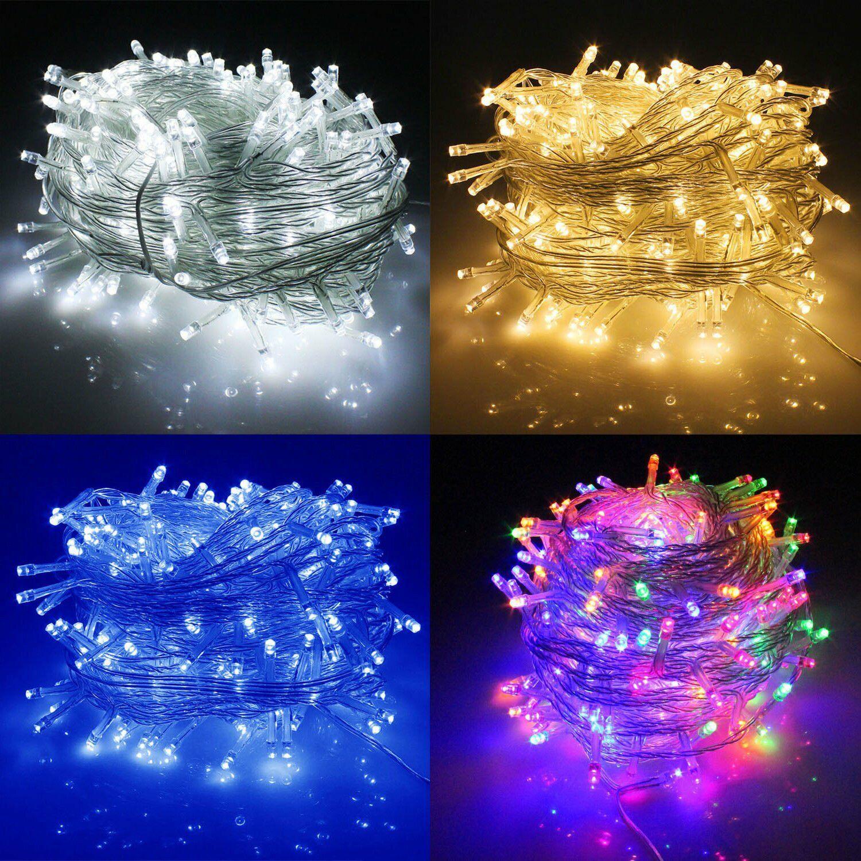 100-1000 LED Plug in String Fairy Lights Waterproof Outdoor